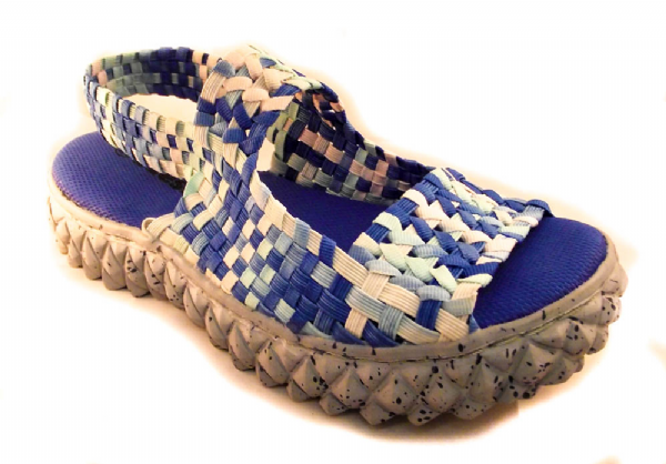 Adesso all elastic upper ocean wash blue coloured summer sandal